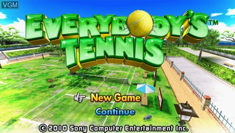 Title screen of the game Everybody's Tennis on Sony PSP