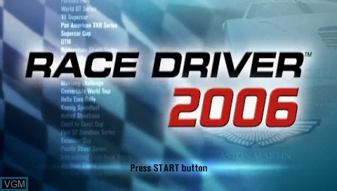 Title screen of the game Race Driver 2006 on Sony PSP