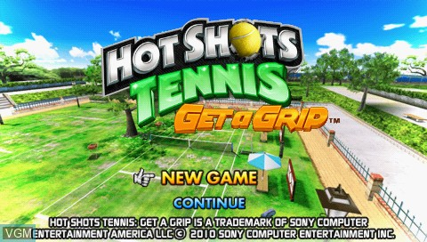 Title screen of the game Hot Shots Tennis - Get a Grip on Sony PSP