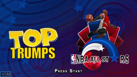 Title screen of the game Top Trumps - NBA All Stars on Sony PSP