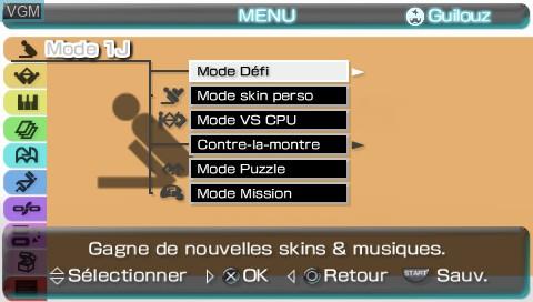 Menu screen of the game Lumines II on Sony PSP