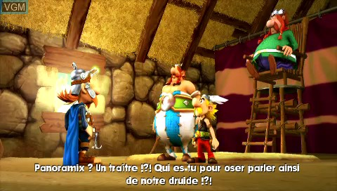 Menu screen of the game Asterix & Obelix XXL 2 - Mission WiFix on Sony PSP
