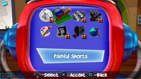 Menu screen of the game 101 in 1 Megamix on Sony PSP
