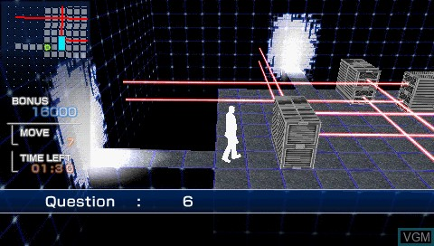 In-game screen of the game PQ - Practical Intelligence Quotient on Sony PSP