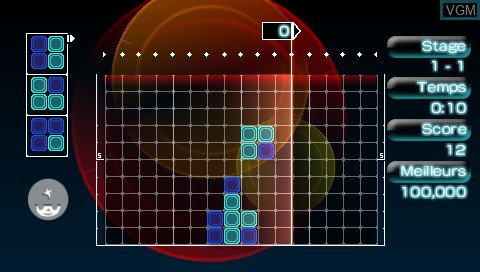 In-game screen of the game Lumines II on Sony PSP