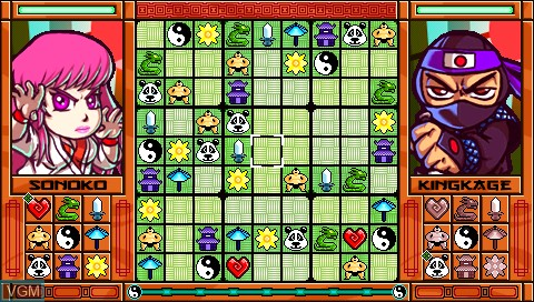 In-game screen of the game Zendoku on Sony PSP