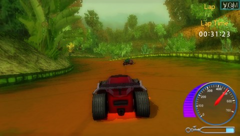 In-game screen of the game Hot Wheels Ultimate Racing on Sony PSP