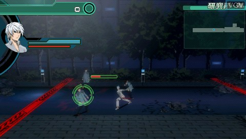 In-game screen of the game Senritsu no Stratus on Sony PSP