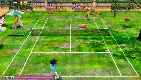 In-game screen of the game Everybody's Tennis on Sony PSP