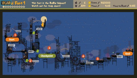 In-game screen of the game LocoRoco - Midnight Carnival - Official Strategy Guide on Sony PSP