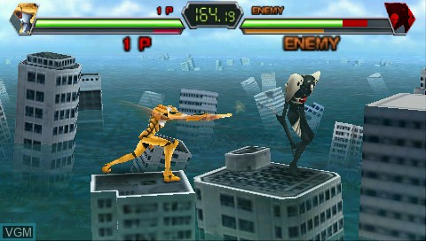 In-game screen of the game Shinseiki Evangelion Portable Pack on Sony PSP