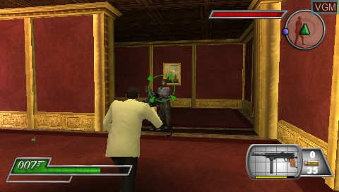 In-game screen of the game 007 - From Russia with Love on Sony PSP