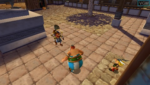 In-game screen of the game Asterix & Obelix XXL 2 - Mission WiFix on Sony PSP