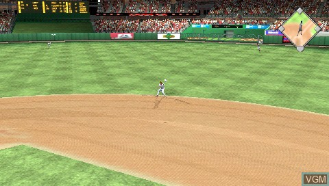 In-game screen of the game MLB 07 - The Show on Sony PSP
