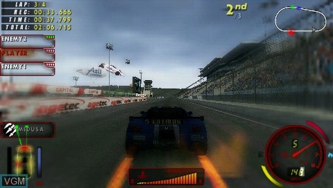 In-game screen of the game DT Carnage on Sony PSP