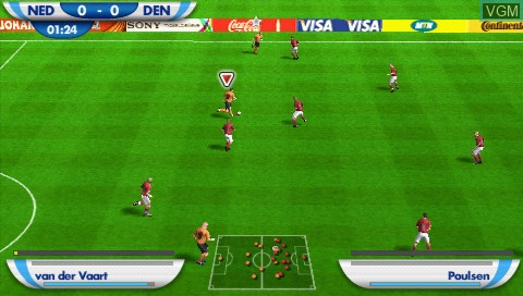 In-game screen of the game 2010 FIFA World Cup - South Africa on Sony PSP