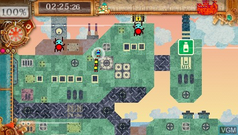 In-game screen of the game Patchwork Heroes on Sony PSP