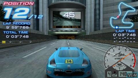 In-game screen of the game Tekken - Dark Resurrection / Ridge Racer 2 on Sony PSP