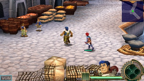In-game screen of the game Ys Super Price Set on Sony PSP