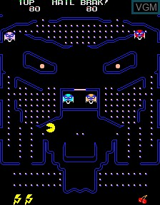 In-game screen of the game Brakman on PacMAME