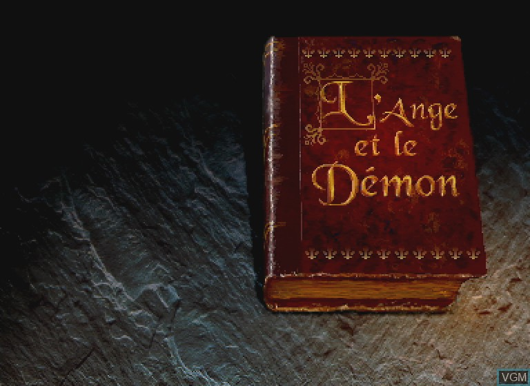 Title screen of the game L'Ange et le Demon on Philips CDI