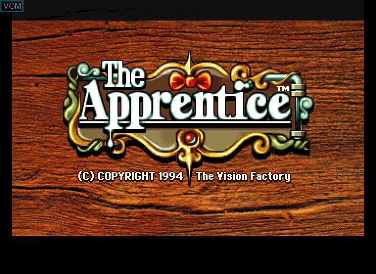 Title screen of the game Apprentice, The on Philips CDI