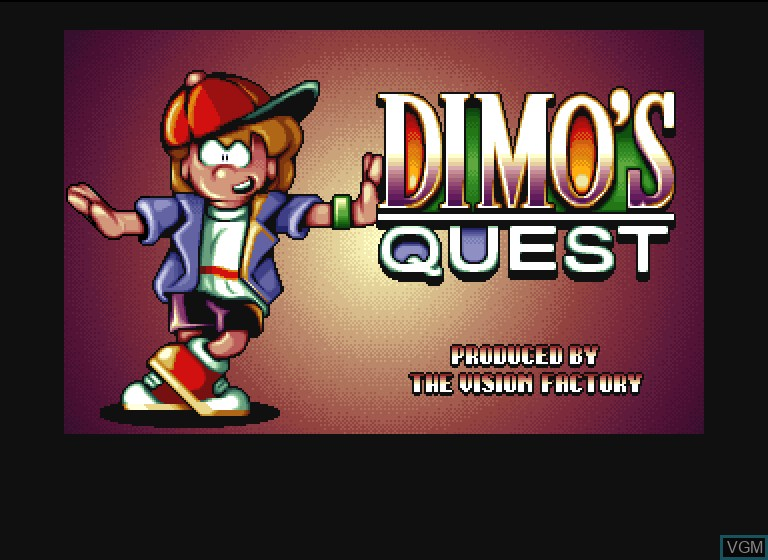 Title screen of the game Dimo's Quest on Philips CDI