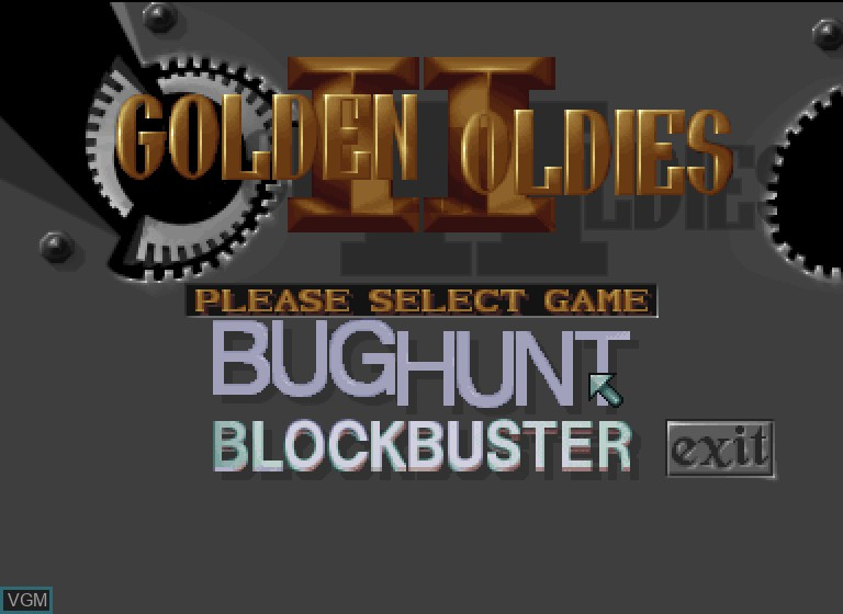 Title screen of the game Golden Oldies II on Philips CDI