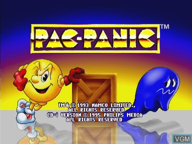 Title screen of the game Pac Panic on Philips CDI
