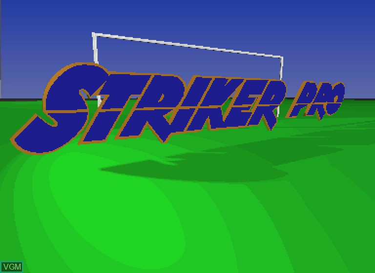 Title screen of the game Striker Pro on Philips CDI