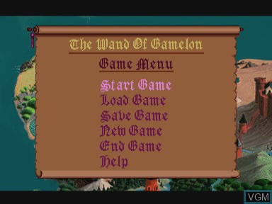 Menu screen of the game Zelda - The Wand of Gamelon on Philips CDI