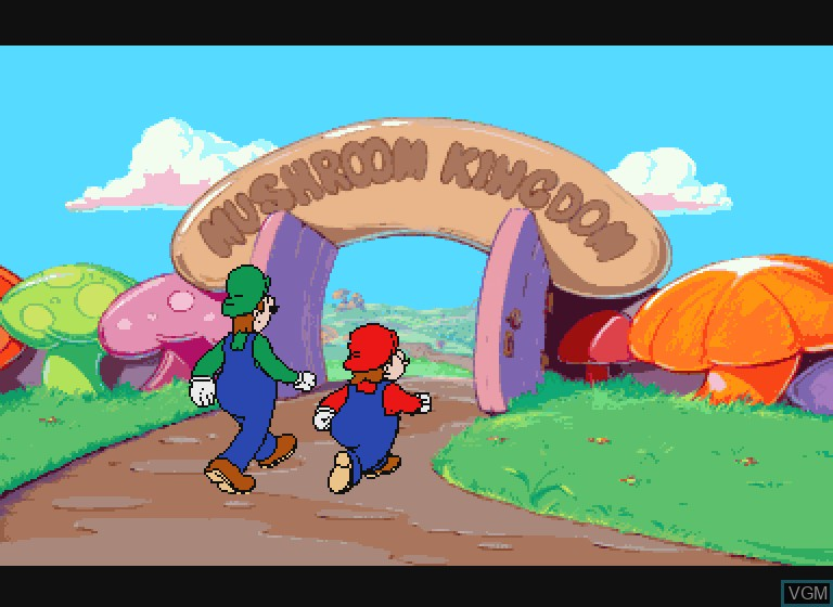 Menu screen of the game Hotel Mario on Philips CDI