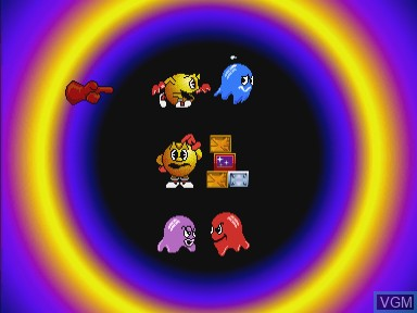 Menu screen of the game Pac Panic on Philips CDI