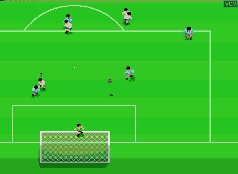 In-game screen of the game Striker Pro on Philips CDI