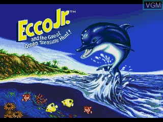 Title screen of the game Ecco Jr. and the Great Ocean Treasure Hunt! on Sega Pico
