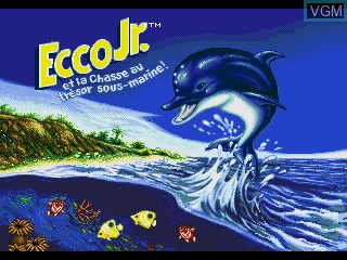 Title screen of the game Ecco Jr. et la Chasse au Tresor Sous-Marine! on Sega Pico