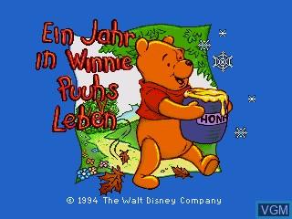 Title screen of the game Ein Jahr in Winnie Puuhs Leben on Sega Pico