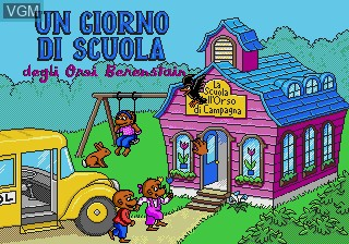 Title screen of the game Giorno di Scuola degli Orsi Berenstain, Un on Sega Pico