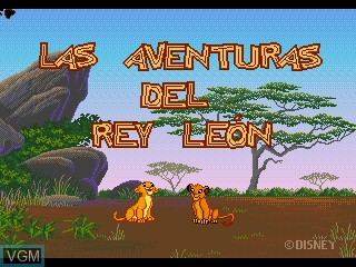 Title screen of the game Las Adventuras del Rey Leon on Sega Pico