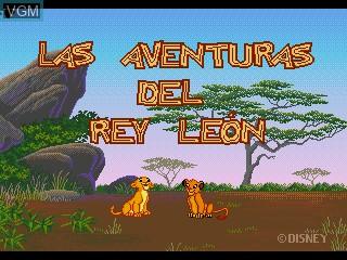 Title screen of the game Las Adventuras del Rey Leon on Sega Pico