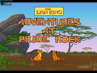 Title screen of the game Lion King, The - Adventures at Pride Rock on Sega Pico