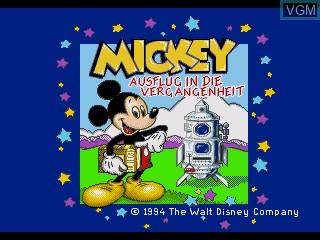 Title screen of the game Mickey - Ausflug in die Vergangenheit on Sega Pico