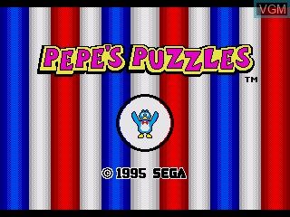 Title screen of the game Pepe's Puzzles on Sega Pico