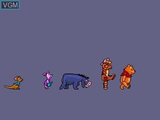 Menu screen of the game A Year at Pooh Corner on Sega Pico