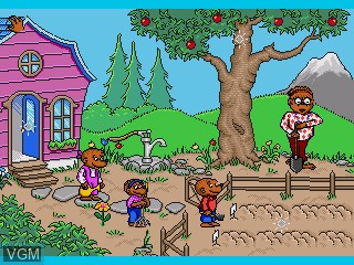Menu screen of the game Berenstain Bears, The - A School Day on Sega Pico