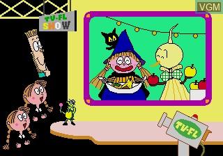 Menu screen of the game Gakken no o-Benkyou Soft - Hiragana on Sega Pico