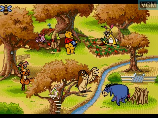 Menu screen of the game Kuma no Pooh-san - Christopher Robin wo Sagase! on Sega Pico