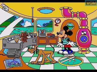 Menu screen of the game Mickey to Utau Tori no Shima - Minnie wo Sagashite Wakuwaku Daibouken! on Sega Pico