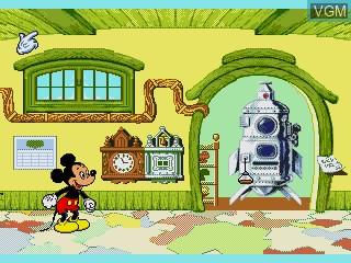 Menu screen of the game Mickey's Blast into the Past on Sega Pico