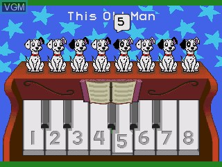 In-game screen of the game 101-piki Wan-chan - Wan-chan Daikoushin! on Sega Pico